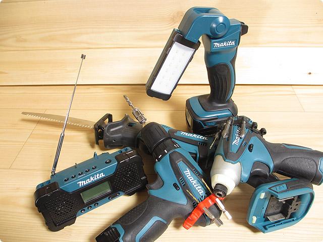 マキタクリーナーのバッテリーは他のツールにも使える。