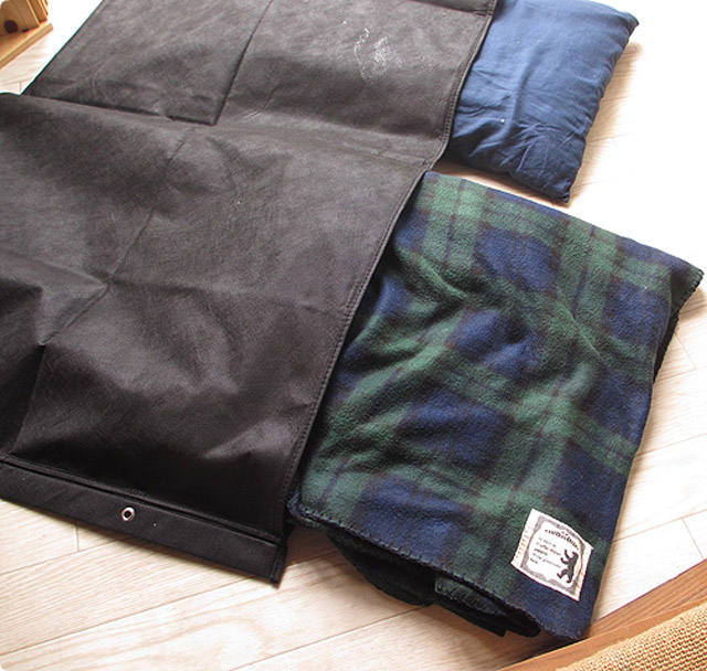 枕のダニ対策に「黒枕干し袋」