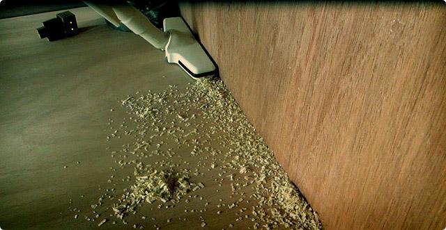 マキタ掃除機は壁の隅のゴミを吸えるのか?