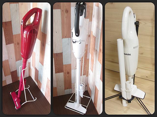 マキタなどの電動工具メーカーのコードレス掃除機に使える専用スタンドのまとめ