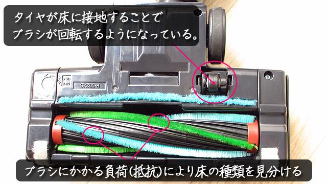 床用ヘッドの節電機能