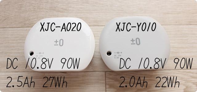 XJC-Y010とXJC-A020の吸引力はどっちが強いのか?