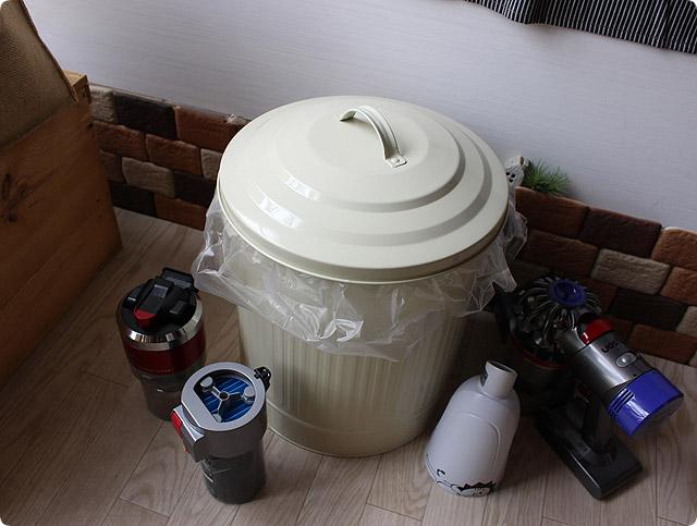 お洒落なゴミ箱(ナチュラル)