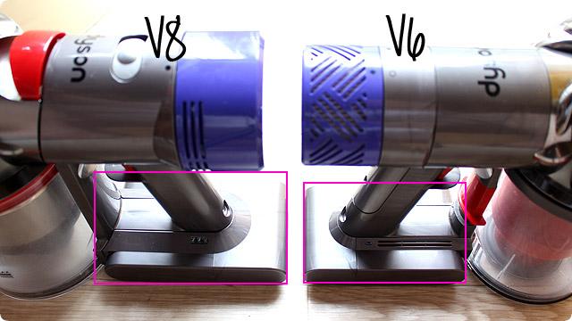 V6とV8 連続使用時間の違い