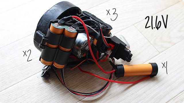 HomeVac Duoのバッテリー(電池)
