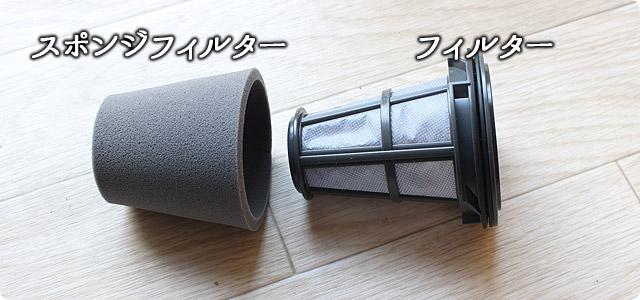 iT(MC-BU500J)のスポンジフィルター