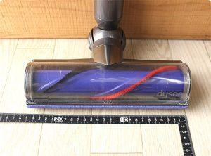 ダイソンV6 ダイレクトクリーナードライブヘッド サイズ