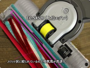 EC-SX520の吸込口