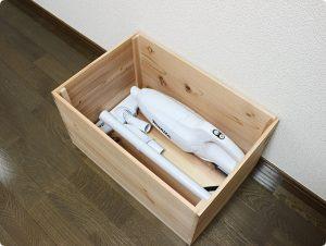 マキタ掃除機を木箱に収納