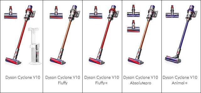 ダイソン V10 種類と違い