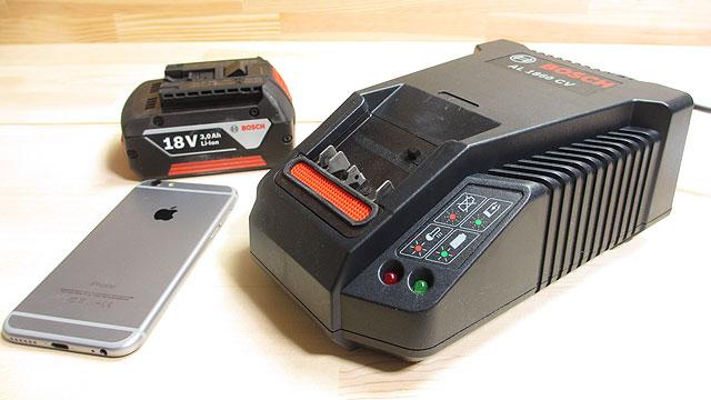 GAS18V-LIHのバッテリーと充電器
