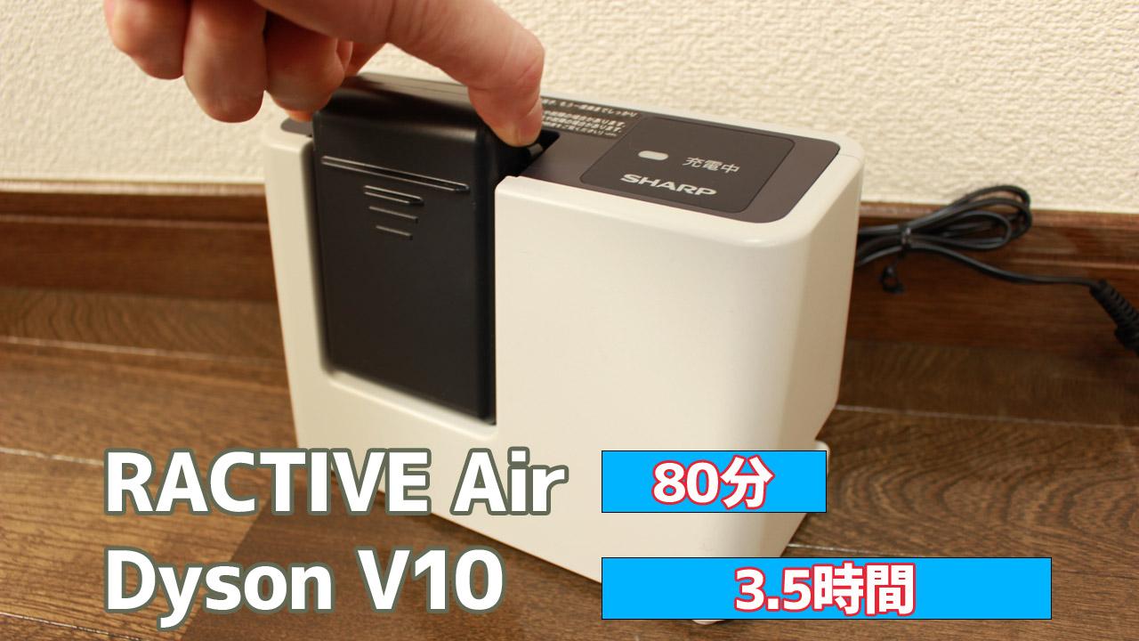 「RACTIVE Air(ラクティブ エア)」<EC-AR2S/EC-AR2SX>充電時間