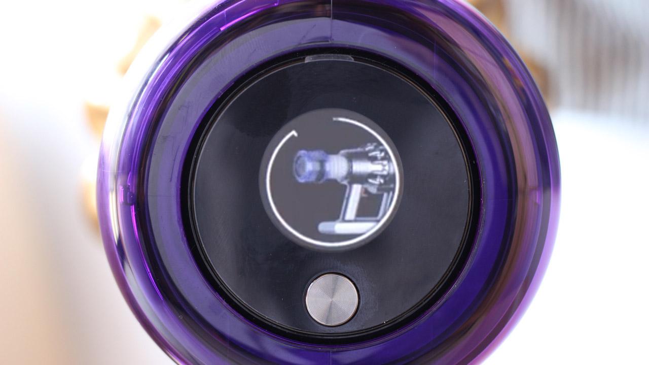 ダイソンV11-液晶ディスプレイ(フィルターメンテナンス通知)