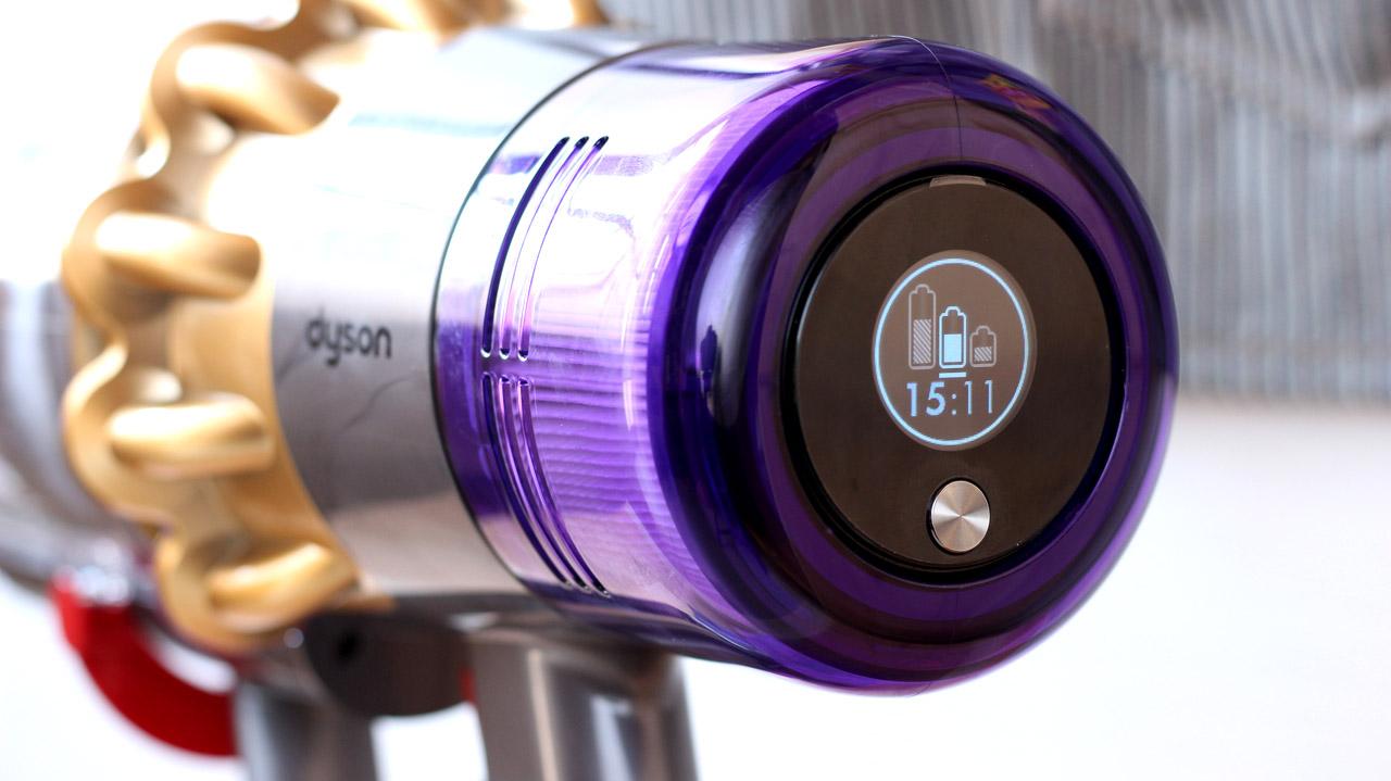 ダイソンV11-液晶ディスプレイ(運転時間)