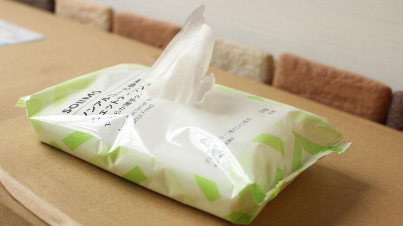 Amazonブランド(SOLIMO)ノンアルコール除菌ウェットティッシュ
