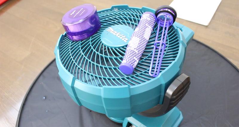 v8 slim Fluffy フィルター乾燥
