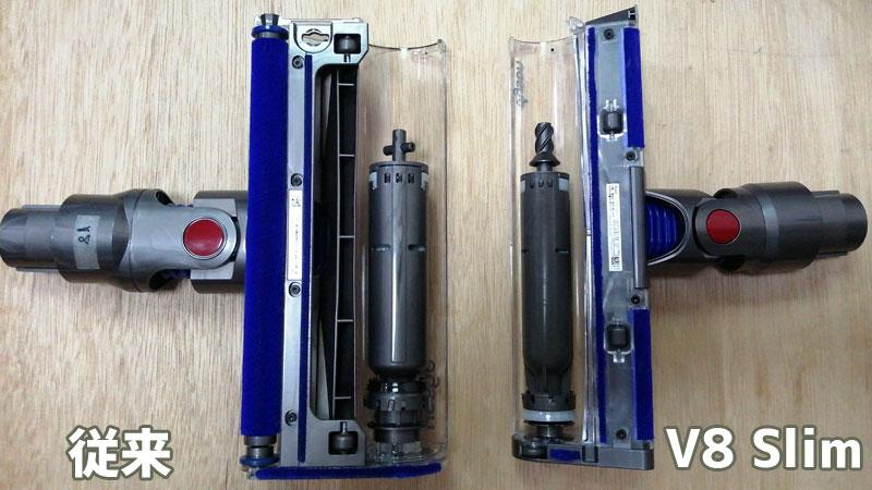 V8 Slim スリムソフトローラークリーナーヘッド(内蔵モーター)