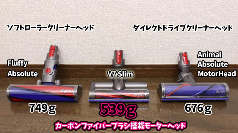 V7 Slimのクリーナーヘッド