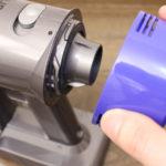 Dyson V7 Slimのポストモーターフィルター 取り外し方