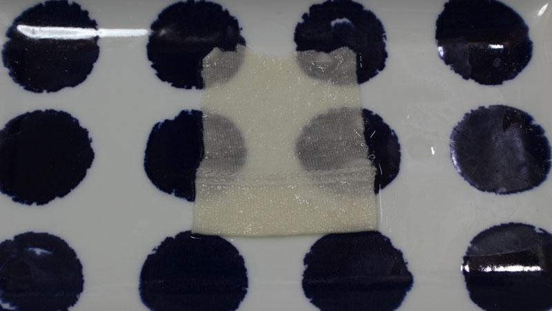 洗剤で洗った綿