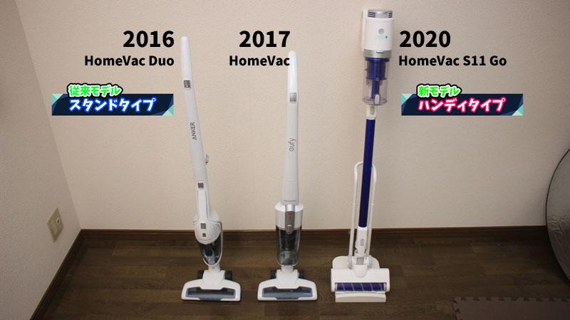 HomeVac S11 Goと従来モデルの違い