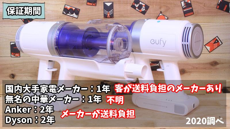 Eufy by Anker HomeVac S11 Go(保証期間)