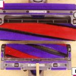 「Micro Fluffy クリーナーヘッド」と「ソフトローラークリーナーヘッド」(吸込口の比較)
