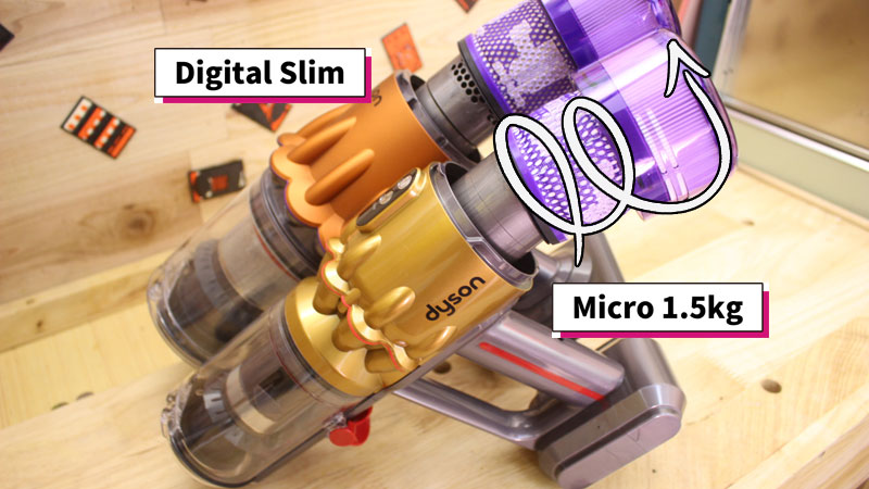 [Dyson Micro 1.5kg]と[Dyson Digital Slim]フィルターの取り外し方
