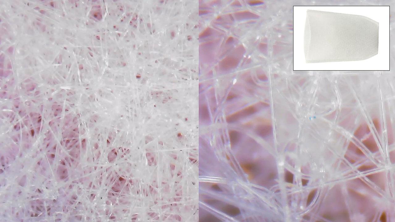 不織布 フィルター(顕微鏡)