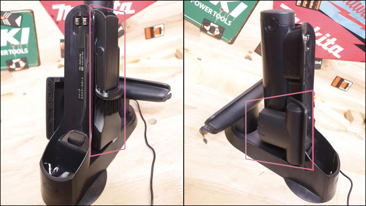 掃除機のアタッチメントをマグネットシートで固定