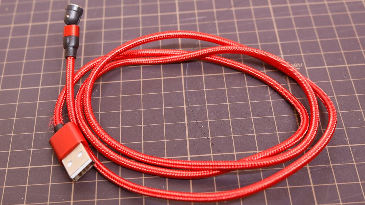 マグネット式 充電ケーブル スイング式(DAIAD / SWC-3SET-1M)