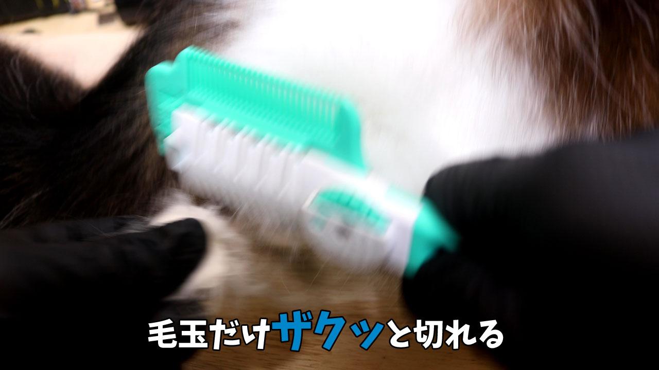 ヘアカッターで猫の毛玉を安全にカット3