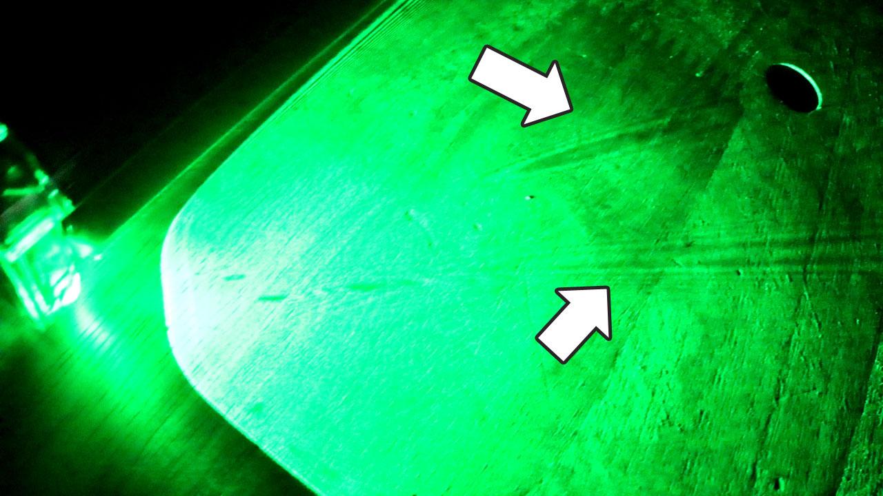 ダイソン レーザーのムラ